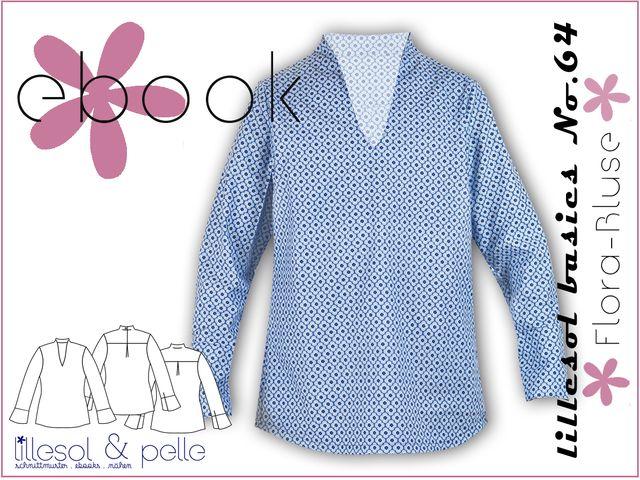 Produktfoto von Lillesol & Pelle zum Nähen für Schnittmuster Lillesol basics No. 64 Flora-Bluse