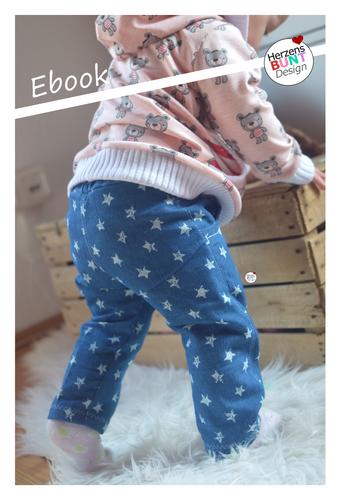 Produktfoto von Herzensbunt Design zum Nähen für Schnittmuster Babyhose Glückskeks