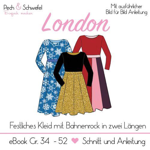 Produktfoto von Pech & Schwefel zum Nähen für Schnittmuster Kleid London