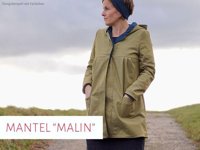 Produktfoto von kreativlabor Berlin zum Nähen für Schnittmuster Mantel Malin
