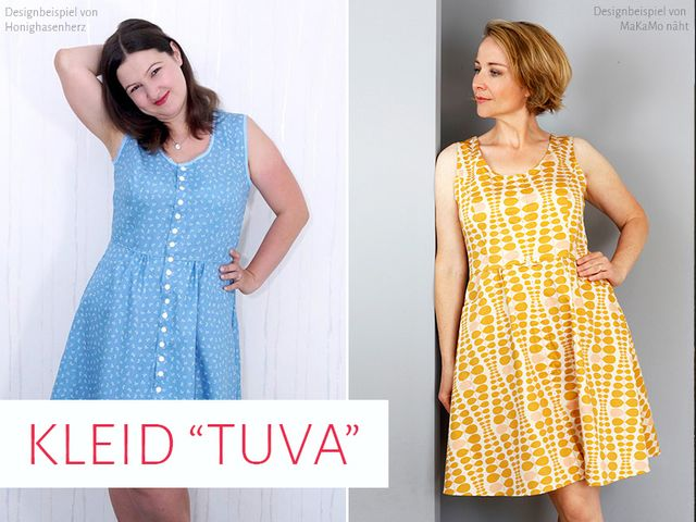 Produktfoto von kreativlabor Berlin zum Nähen für Schnittmuster Kleid Tuva