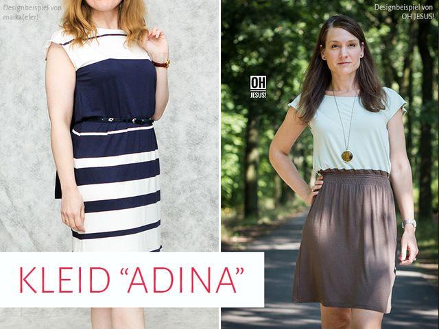 Produktfoto von kreativlabor Berlin zum Nähen für Schnittmuster Kleid Adina