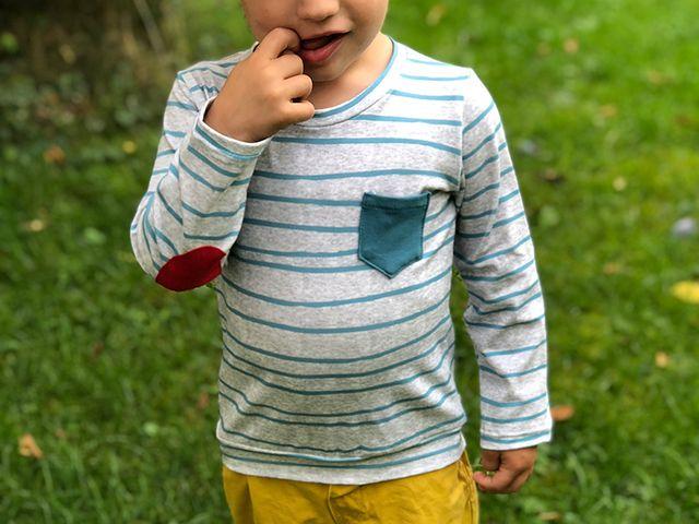 Produktfoto von kreativlabor Berlin zum Nähen für Schnittmuster Kinder-Shirt Filip