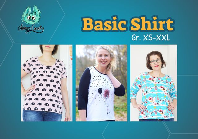 Produktfoto von Annas Country zum Nähen für Schnittmuster Basic Shirt Woman