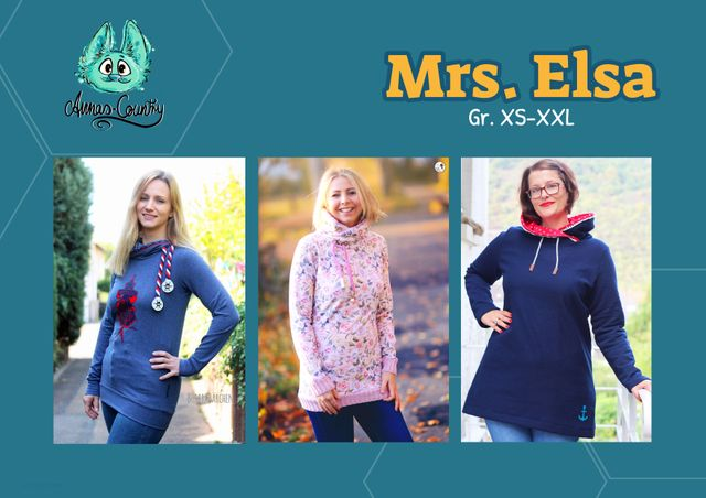 Produktfoto von Annas-Country zum Nähen für Schnittmuster Mrs. Elsa