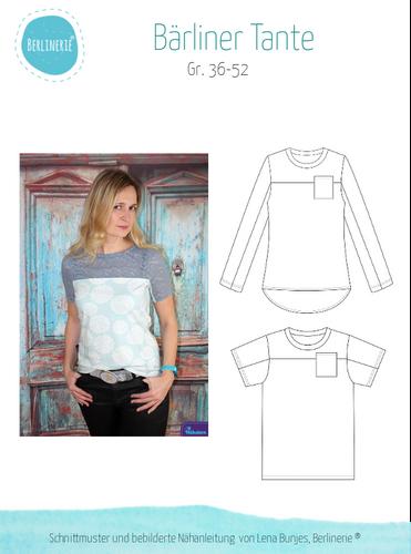 Produktfoto von Berlinerie zum Nähen für Schnittmuster Shirt Bärliner Tante
