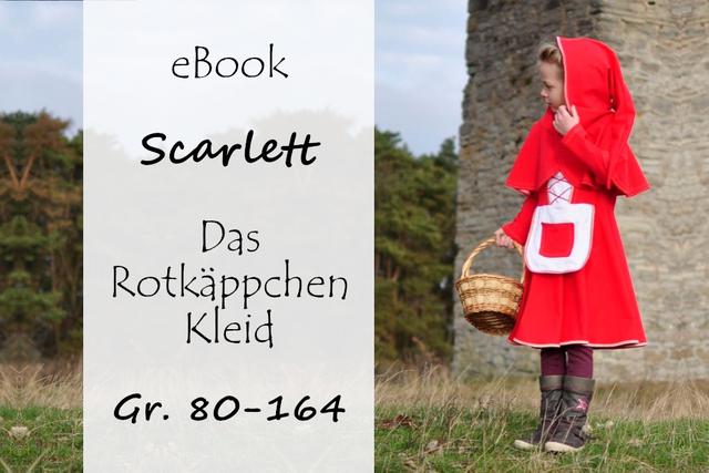 Produktfoto von Bunte Nähigkeiten zum Nähen für Schnittmuster Scarlett - Das Rotkäppchenkleid