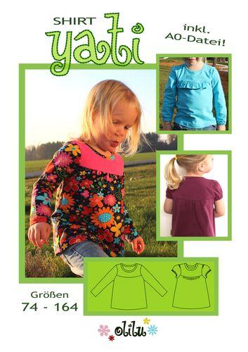 Produktfoto von olilu zum Nähen für Schnittmuster Jerseyshirt Yati