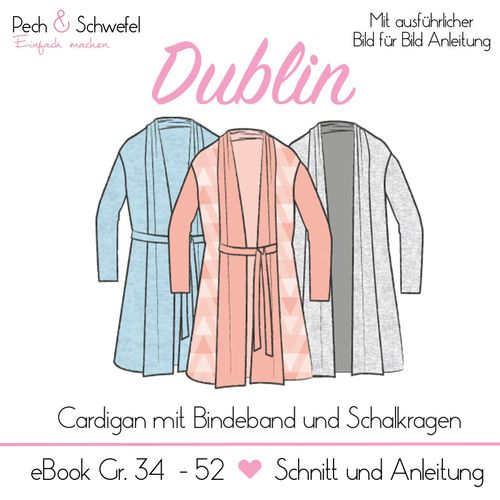 Produktfoto von Pech & Schwefel zum Nähen für Schnittmuster Cardigan Dublin