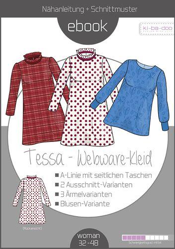 Produktfoto von ki-ba-doo zum Nähen für Schnittmuster Webware-Kleid Tessa