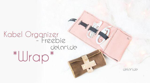 Produktfoto von delari zum Nähen für Schnittmuster Wrap - Kabel-Organizer