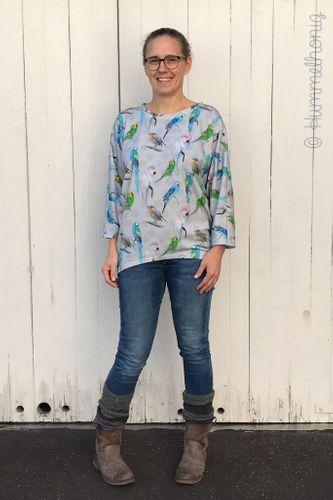 Produktfoto von Hummelhonig zum Nähen für Schnittmuster Damen Fledermausshirt Avignon