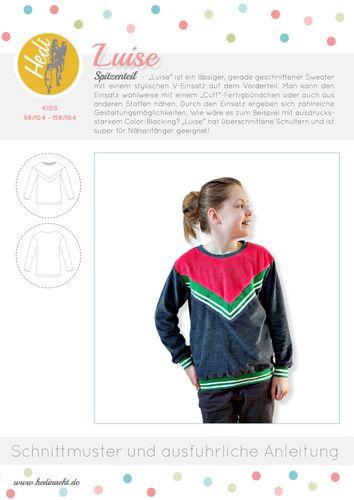 Produktfoto von Hedi zum Nähen für Schnittmuster Pulli Luise Kids
