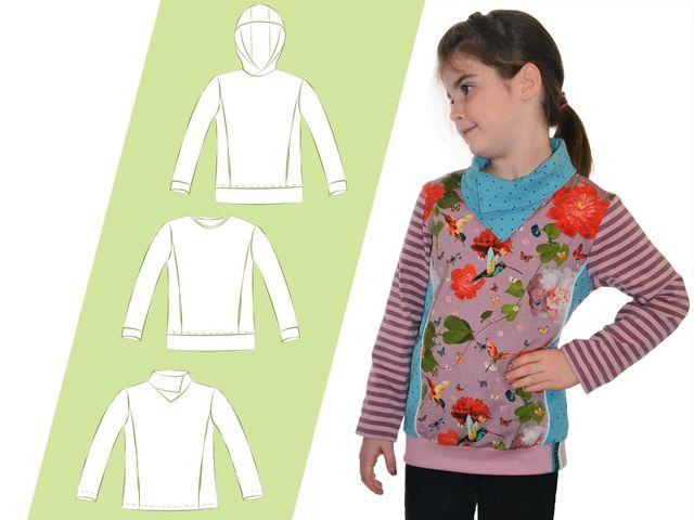 Produktfoto von 73engelchen zum Nähen für Schnittmuster Shirt Kids Charlie