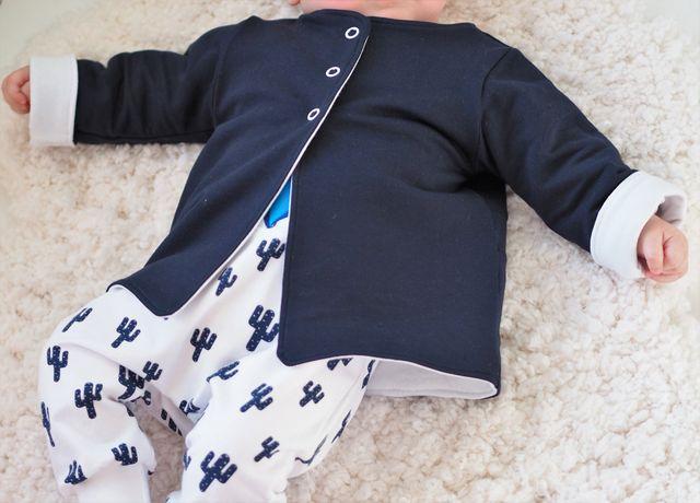 Produktfoto von Engelinchen zum Nähen für Schnittmuster Diamond Baby Cardigan