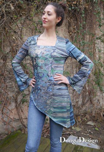 Produktfoto von DongoDesign zum Nähen für Schnittmuster Meerjungfrau easy Jerseyshirt