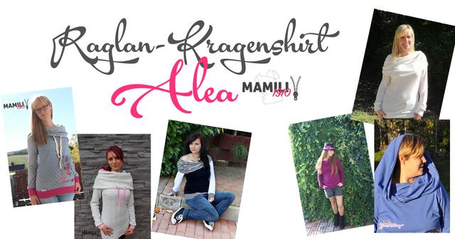 Produktfoto von Mamili1910 zum Nähen für Schnittmuster Raglan-Kragen-Shirt Alea