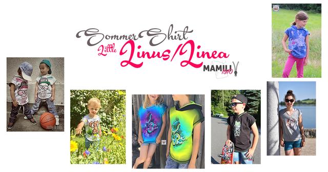 Produktfoto von Mamili1910 zum Nähen für Schnittmuster Sommershirt Little Linus/Linea