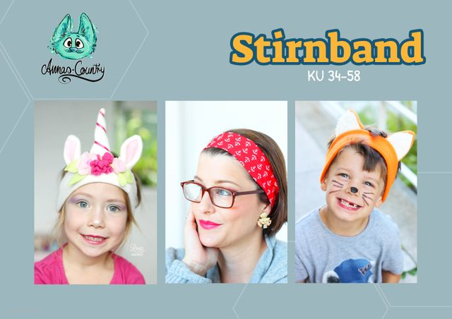 Produktfoto von Annas-Country zum Nähen für Schnittmuster Stirnband für Groß und Klein