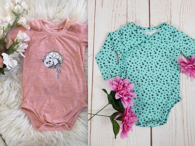 Produktfoto von drei eMs zum Nähen für Schnittmuster Newborn-Body und Wickelbody Lou