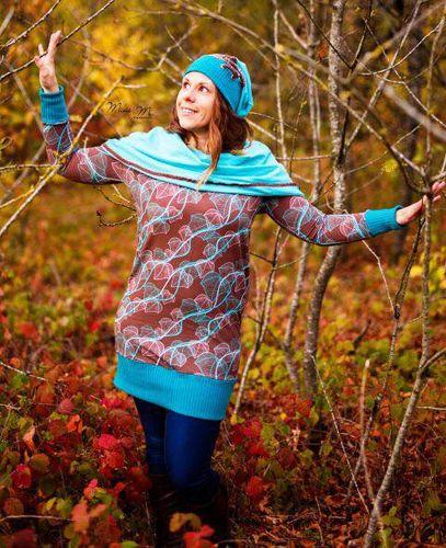 Produktfoto von Mini & Me Patterns zum Nähen für Schnittmuster Longpulli Damen