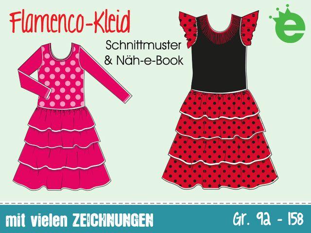 Produktfoto von Erbsenprinzessin zum Nähen für Schnittmuster Flamenco-Kleid