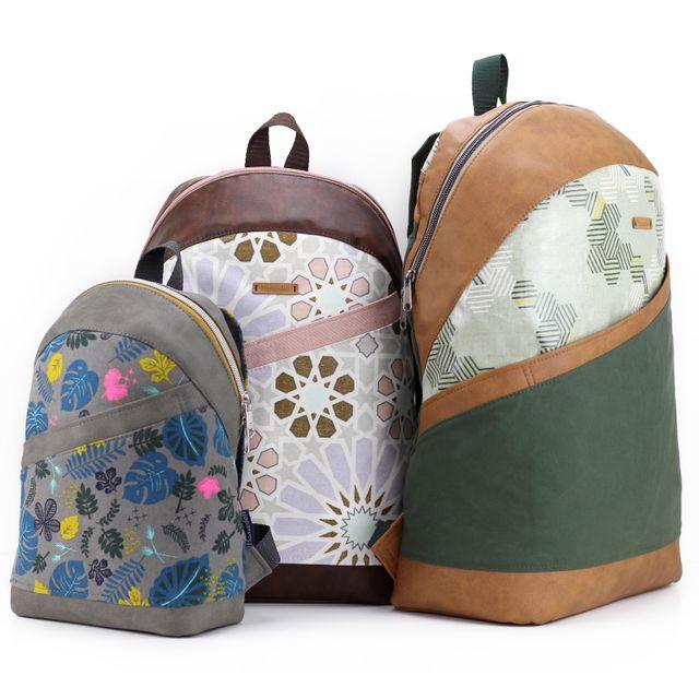 Produktfoto von Hansedelli zum Nähen für Schnittmuster Roani, Roana und Roano – Rucksack in 3 Größen