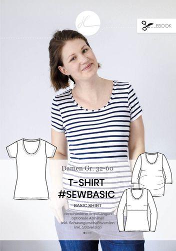 Produktfoto von Hilli Hiltrud zum Nähen für Schnittmuster T-Shirt #sewbasic