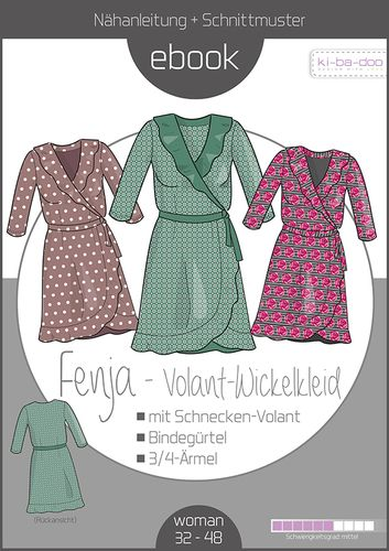 Produktfoto von ki-ba-doo zum Nähen für Schnittmuster Wickelkleid Fenja