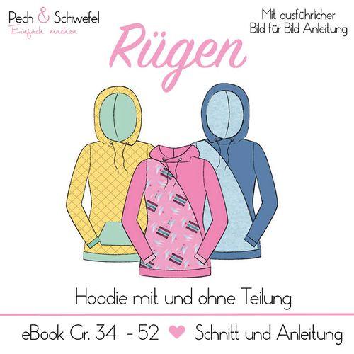 Produktfoto von Pech & Schwefel zum Nähen für Schnittmuster Hoodie Rügen