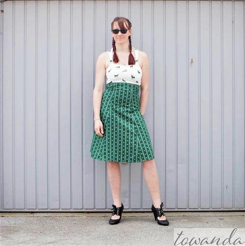 Produktfoto von Bunte Nähigkeiten zum Nähen für Schnittmuster High-Waist-Rock/Kleid Lucie