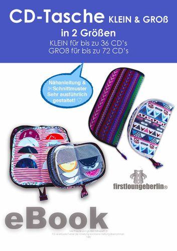 Produktfoto von Firstlounge Berlin zum Nähen für Schnittmuster CD-DVD-Tasche