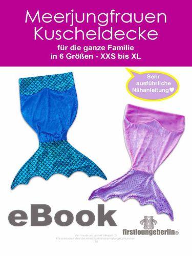 Produktfoto von Firstlounge Berlin zum Nähen für Schnittmuster Meerjungfrauen-Kuscheldecke