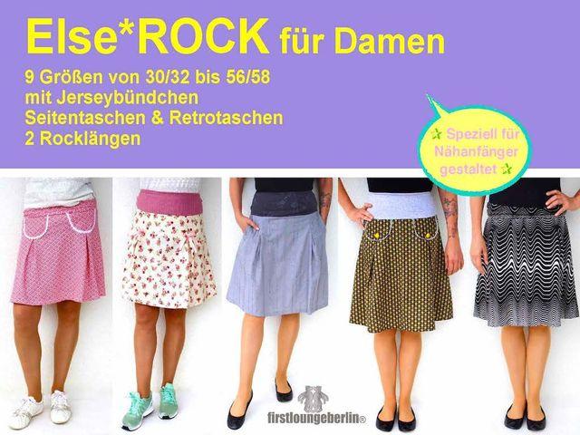 Produktfoto von Firstlounge Berlin zum Nähen für Schnittmuster Else.Rock