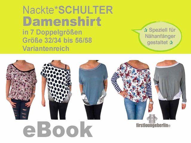 Produktfoto von Firstlounge Berlin zum Nähen für Schnittmuster Damenshirt Nackte*SCHULTER