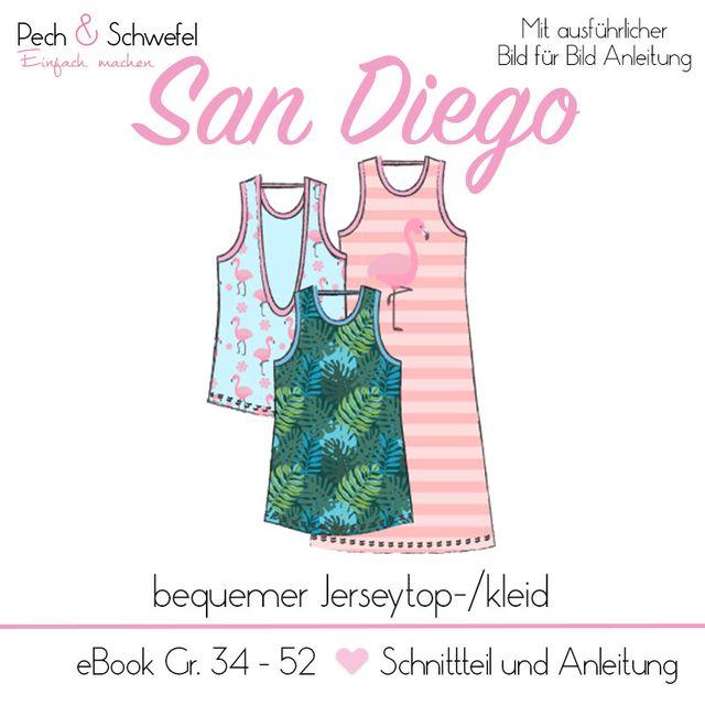 Produktfoto von Pech & Schwefel zum Nähen für Schnittmuster Oberteil San Diego