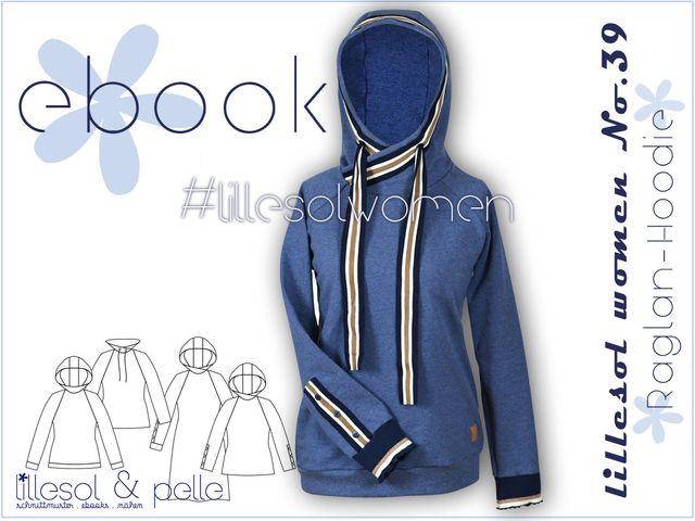 Produktfoto von Lillesol & Pelle zum Nähen für Schnittmuster Lillesol women No.39 Raglan-Hoodie