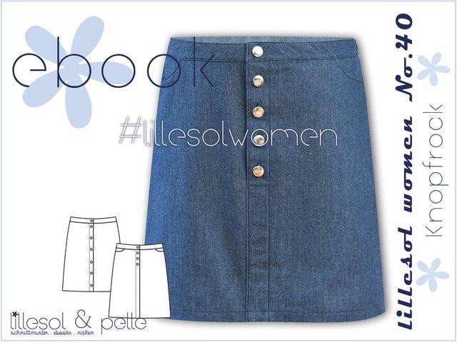 Produktfoto von Lillesol & Pelle zum Nähen für Schnittmuster Lillesol women No.40 Knopfrock