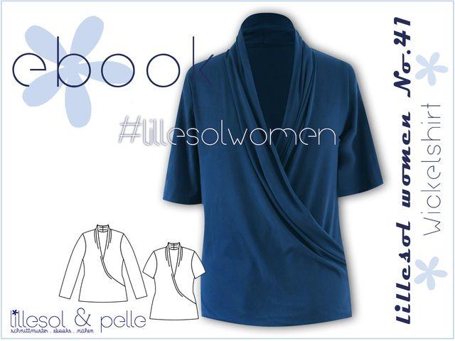 Produktfoto von Lillesol & Pelle zum Nähen für Schnittmuster Lillesol women No.41 Wickelshirt