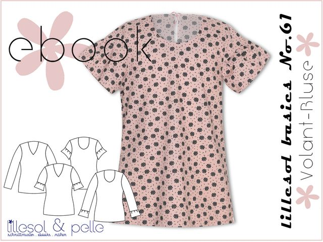 Produktfoto von Lillesol & Pelle zum Nähen für Schnittmuster Lillesol basics No.61 Volant-Bluse