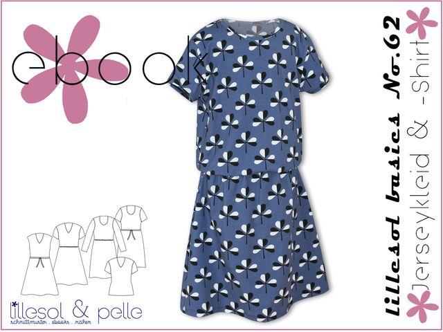 Produktfoto von Lillesol & Pelle zum Nähen für Schnittmuster Lillesol basics No.62 Jerseykleid & -Shirt