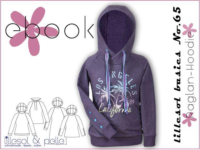 Produktfoto von Lillesol & Pelle zum Nähen für Schnittmuster Lillesol basics No.65 Raglan-Hoodie