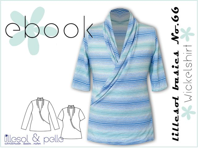Produktfoto von Lillesol & Pelle zum Nähen für Schnittmuster Lillesol basics No.66 Wickelshirt