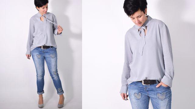 Produktfoto von Leni Pepunkt zum Nähen für Schnittmuster BLUSEN.baukasten
