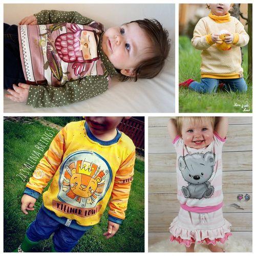 Produktfoto von Engelinchen zum Nähen für Schnittmuster Babyshirt miniLoo
