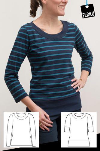 Produktfoto von pedilu zum Nähen für Schnittmuster LaMarina Shirt