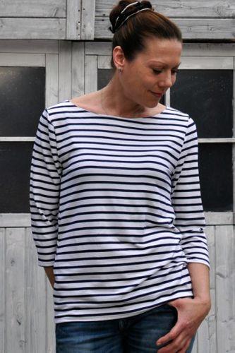Produktfoto von Hummelhonig zum Nähen für Schnittmuster Damen Bretonenshirt St. Malo