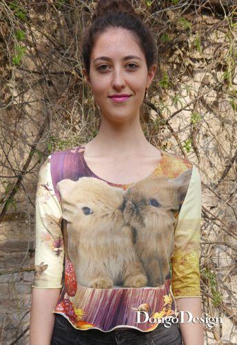 Produktfoto von DongoDesign zum Nähen für Schnittmuster Supereasy Jersey-Shirt Doro