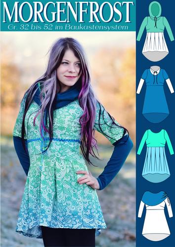 Produktfoto von Rosalieb & Wildblau zum Nähen für Schnittmuster Morgenfrost