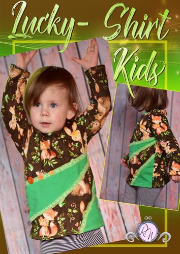 Produktfoto von Rosalieb & Wildblau zum Nähen für Schnittmuster Lucky-Shirt Kids